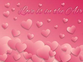 ピンク色の空 ハート雲