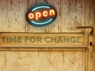 time for change open sign